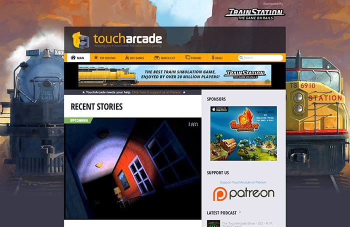 TrainStation TouchArcade Takeover