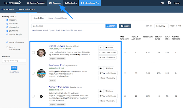 Use Buzzsumo promote your post.