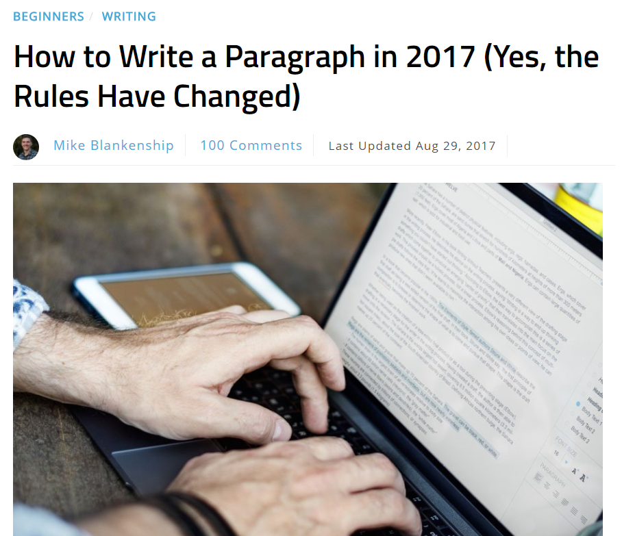 How to Write a Paragraph in 2017