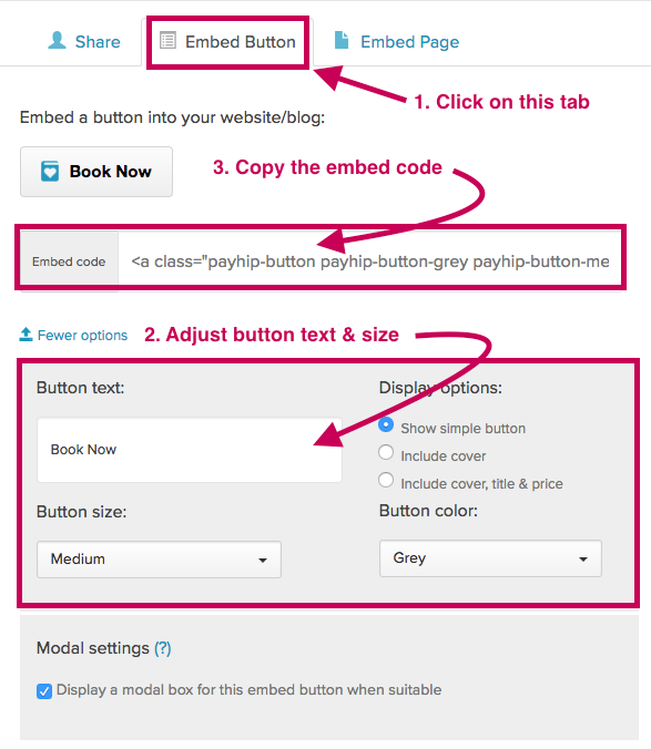 Payhip - Embed Button Code