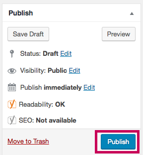 WordPress - Publish