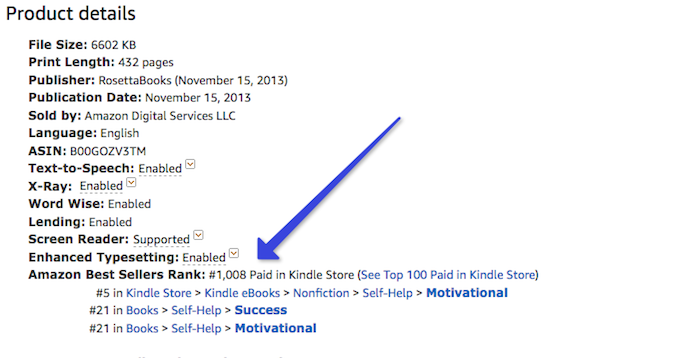 Find eBook Amazon best seller rank