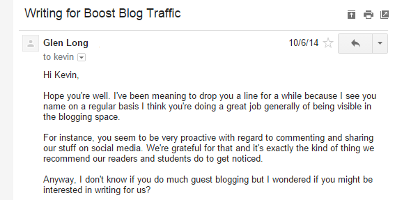 invitations to guest blog