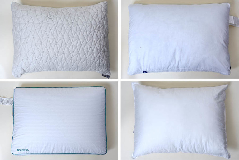 the four pillows we tested