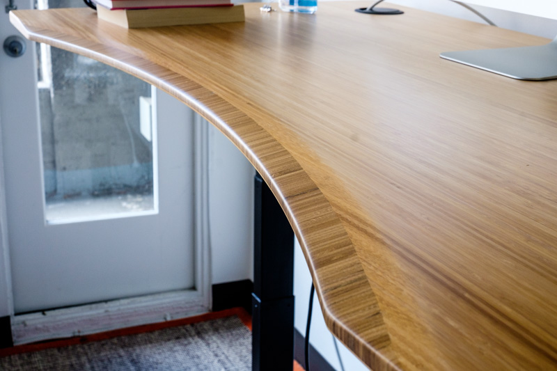 Close-up of Jarvis Standing Desk