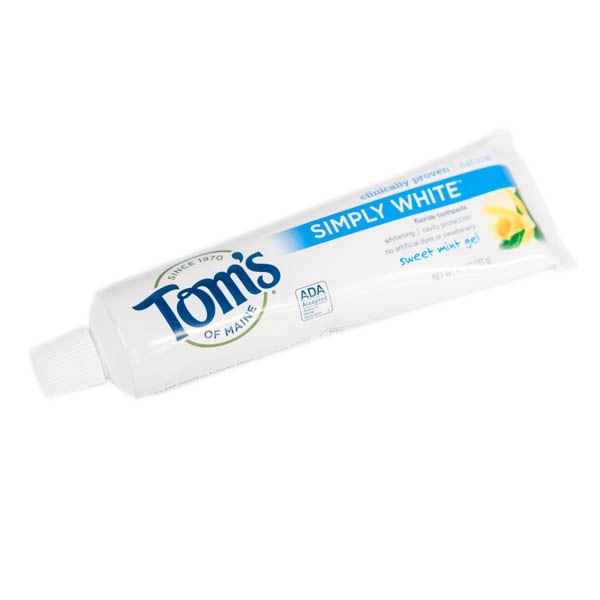 Tom's of Maine Simply White Natural Fluoride Toothpaste Sweet Mint