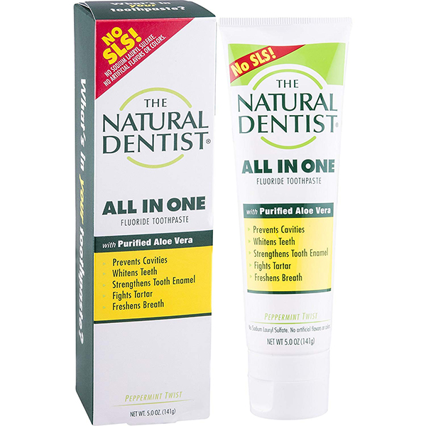 The Natural Dentist All In One SLS FREE Aloe Toothpaste