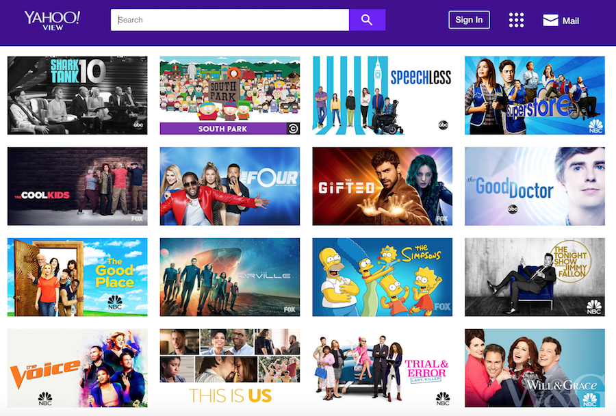 Yahoo View Screenshot for Free Streaming