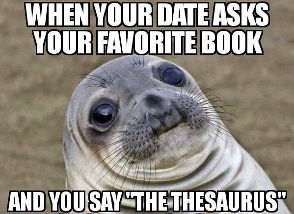 When Your Date Asks About Your Favorite Book...