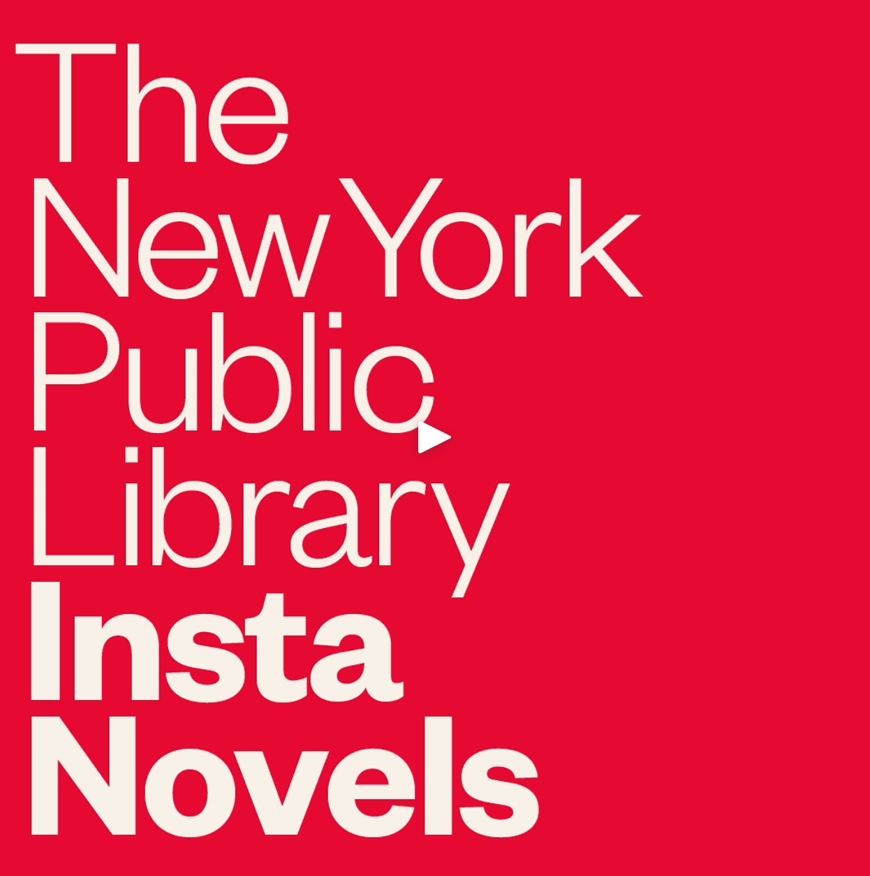 New York Public Library Insta Novels teaser post screenshot