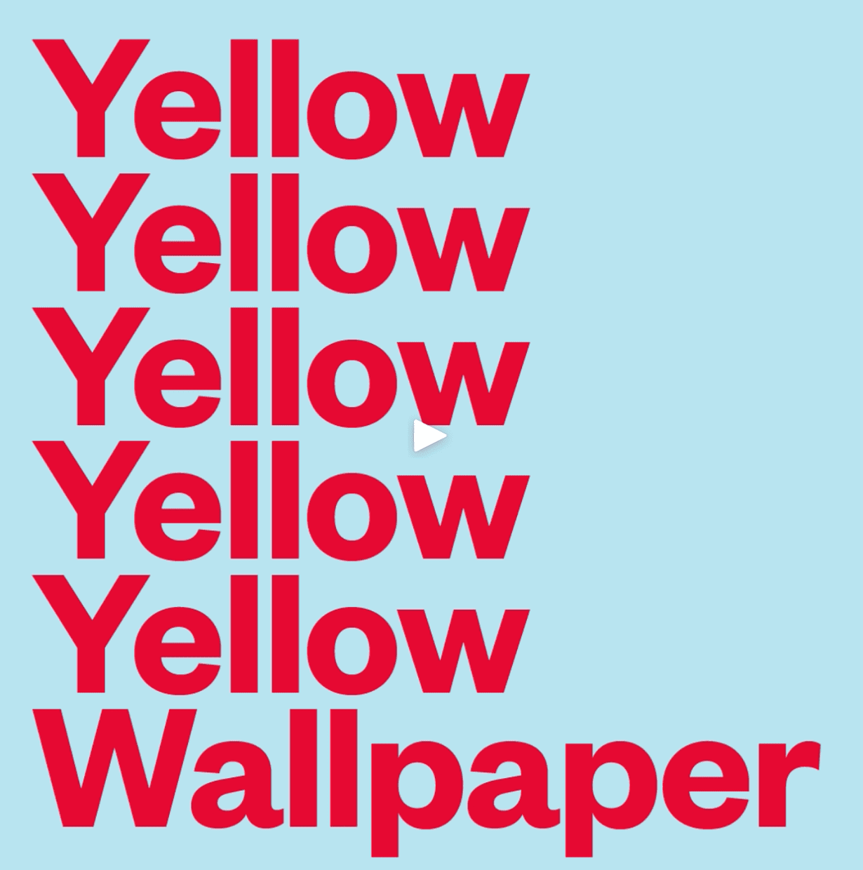The Yellow Wallpaper Announcement Post