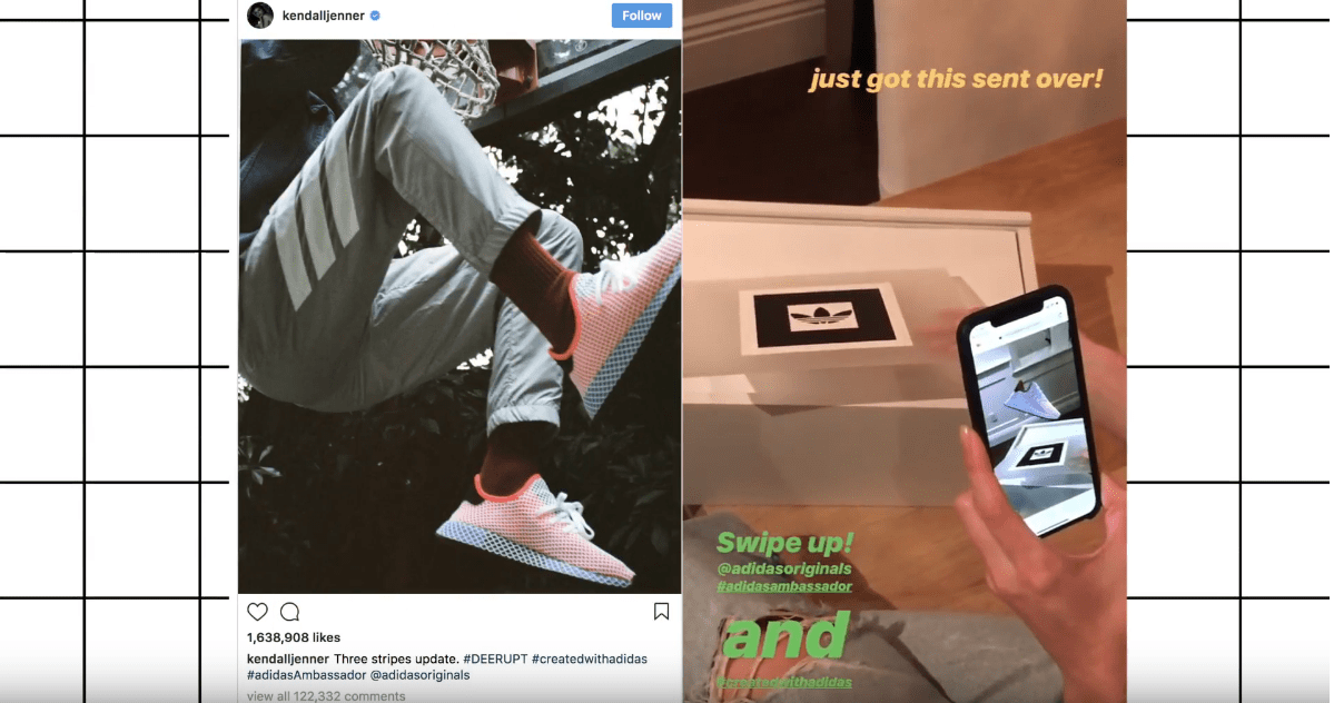 Annexx88 and adidas sent popular Sneakerheads, like Kendall Jenner, shoeboxes to interact with and share the DEERUPT pre-release.