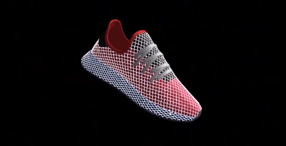 AR-rendering of the DEERUPT, by Annex88 and adidas Originals.