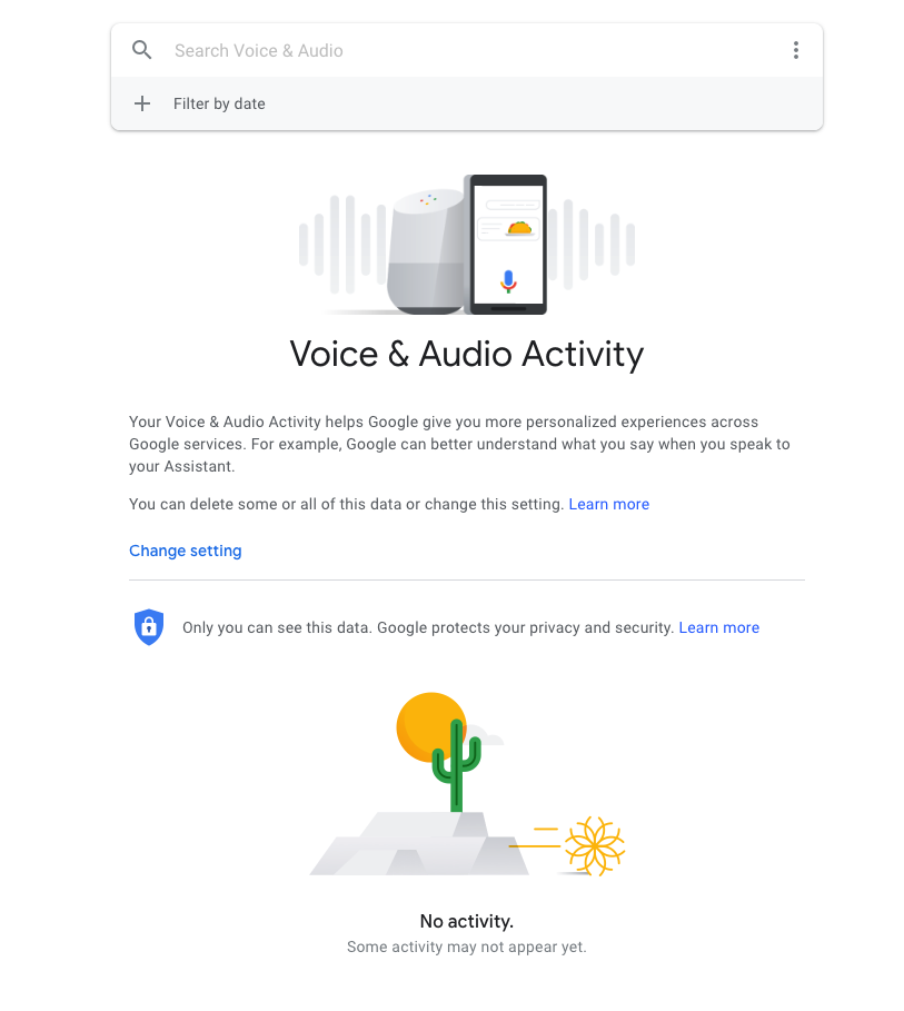 Google's Voice & Audio activity