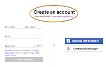 eBay Partner Network: Create Personal or Business Acct