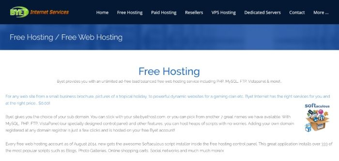 Free WordPress Hosting - Byet