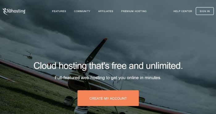 Free WordPress Hosting - x10Hosting