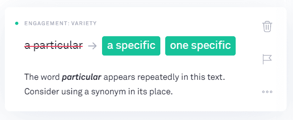 Grammarly Review: subsitutions