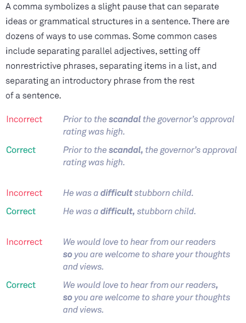 Grammarly Review: error example