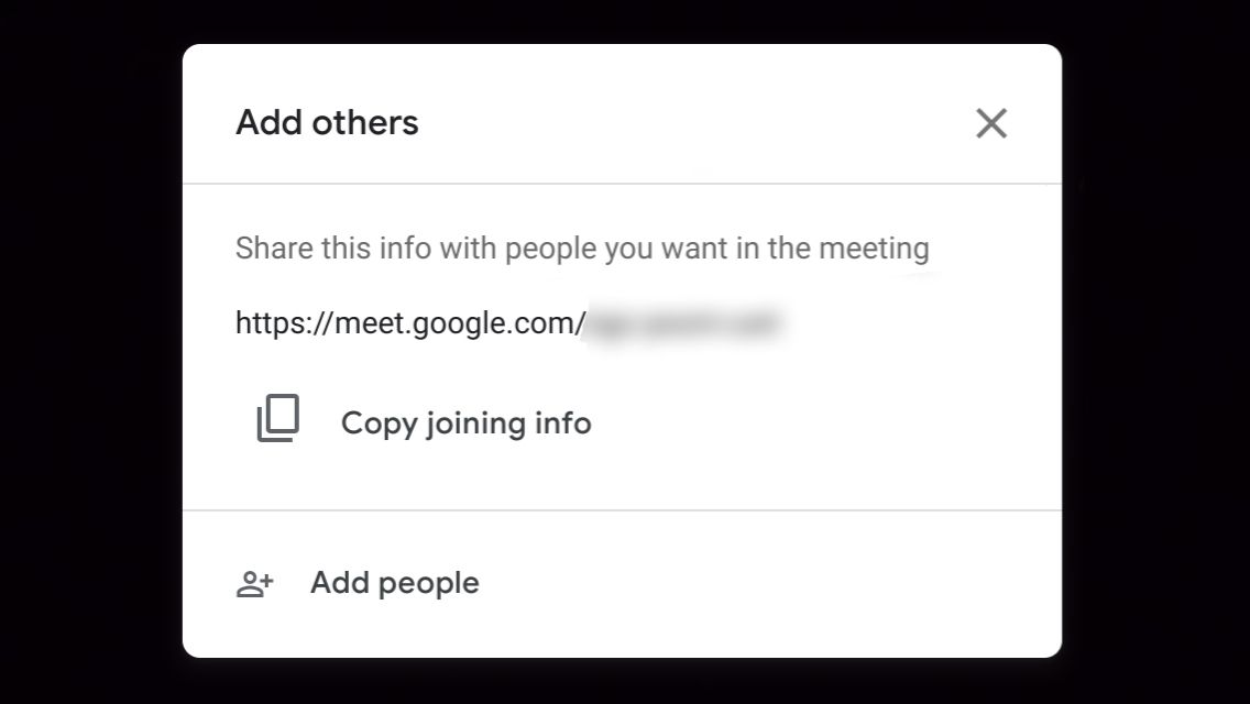 Invite guest to Google Meet