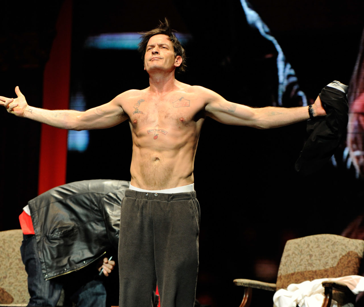 Charlie Sheen: Violent Torpedo of Truth/Defeat Is Not An Option Tour - New York