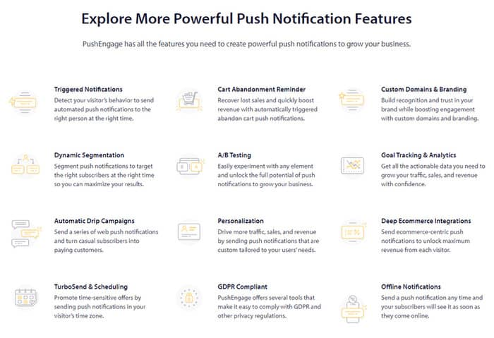 push engage review features
