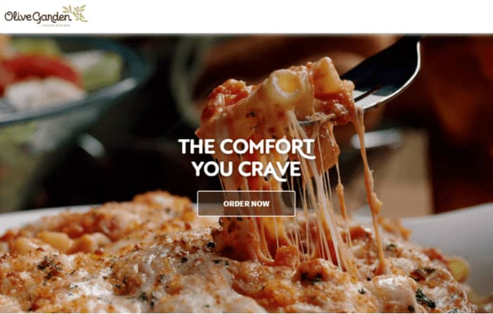 persuasive copy olive garden order page